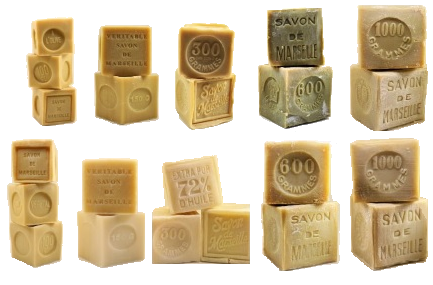 Traditional Marseille Soap: Cube shap